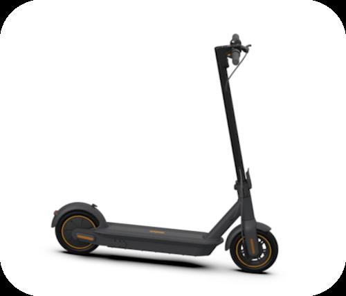 Imagen representativa del modelo Segway Ninebot. También llamado G30, es un patinete un poco más grande que los otros dos.