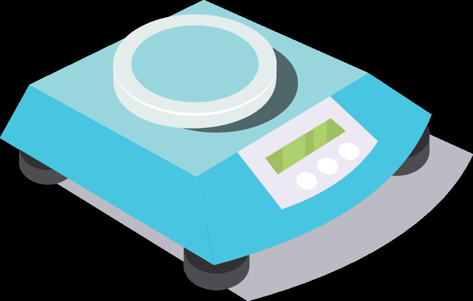 Imagen de una balanza en color azul.