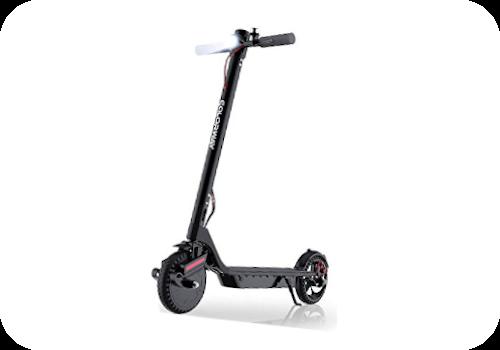 Imagen en miniatura de Colorway CX900. Es un patinete normal en gris y detalles en rojo. Pero con suspensión llamativa por tener un diseño peculiar.