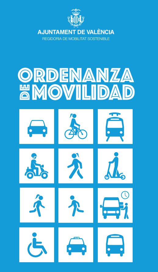Imagen de portada sobre la ordenanza de movilidad en Valencia.